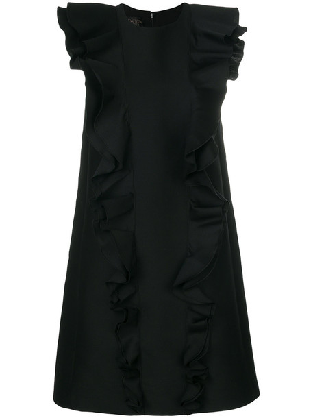 GIAMBATTISTA VALLI dress shift dress women black silk wool