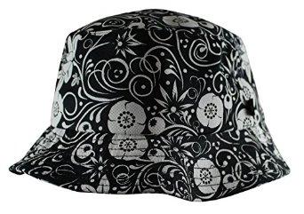 Amazon.com: SSUR New York Khokhloma Cotton Bucket Hat - Black / White S/M: Clothing
