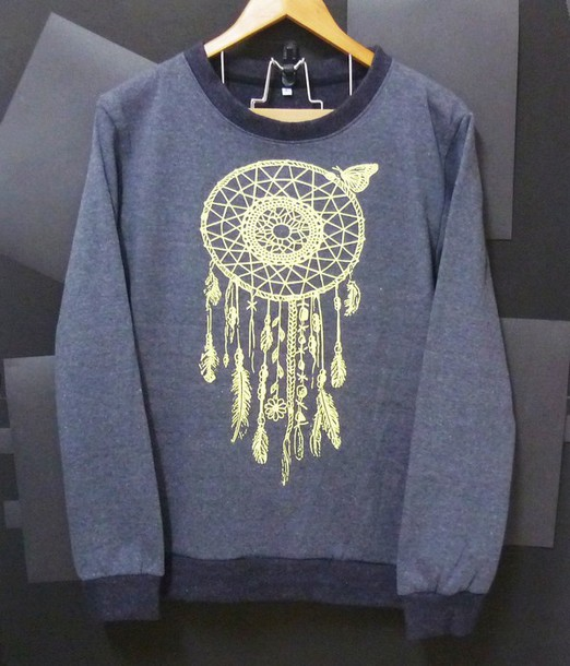 sweater dreamcatcher crewneck winter sweater sweatshirt cute sweater women tops men tops mens sweater grey sweater long sleeves clothings women sweater jumper pullover printed sweater women tshirt top
