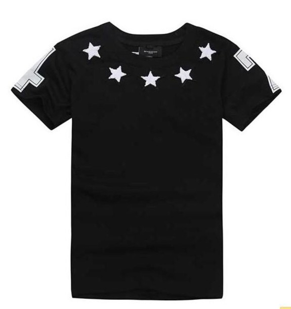 t-shirt 47 black white stars unisex