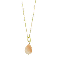 Peach Aventurine & Gold | Conch Necklace | Necklaces – Keltie Leanne Designs