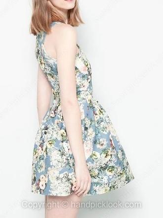 sundress summer dress cocktail dress floral dress print dress sleeveless dress handpicklook.com