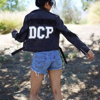 jacket maniére de voir suede fashion trendy style summer coachella festival coat suede fringe jacket kendall jenner gigi hadid 36683