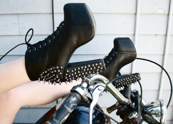 shoes black  high heels high heel spikes
