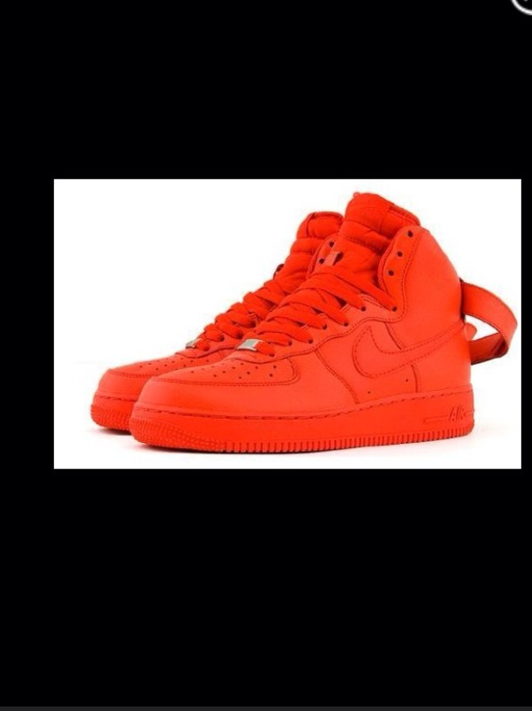 shoes nike airforce1 red nike air force 1