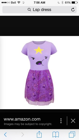 dress lsp dress adventure time purple dress