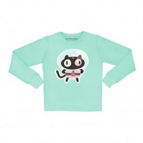 Cookie cat pullover sweatshirt
