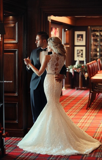 dress weddin wedding dress lace wedding dress a-line wedding dresses vintage wedding dress mermaid mermaid wedding dress bridal gown bride ivory ivory dress lace dress elegant elegant dress lace beautiful gorgeous sleeveless lace mermaid wedding dress backless fishtail 2015 wedding dresses wedding dress 2015