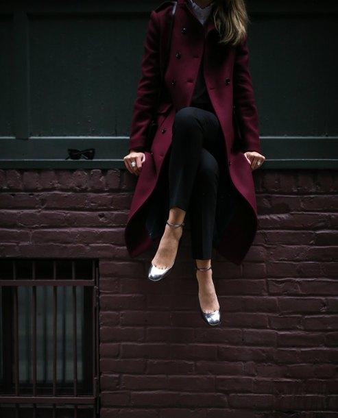 the classy cubicle blogger shoes coat pants shirt bag
