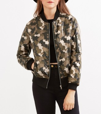 jacket camouflage camo jacket bomber jacket