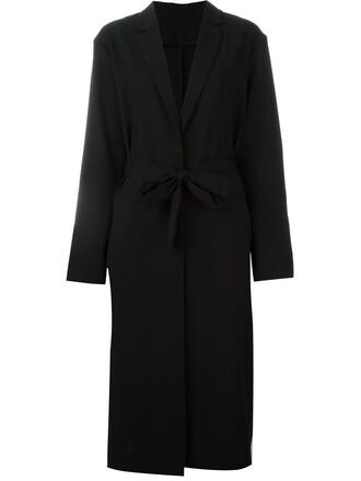 coat long women black wool