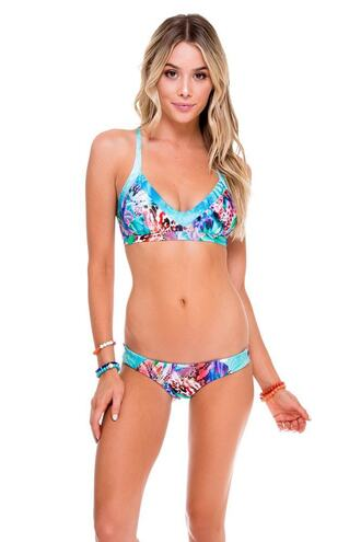 top bikini top luli fama print triangle bikiniluxe