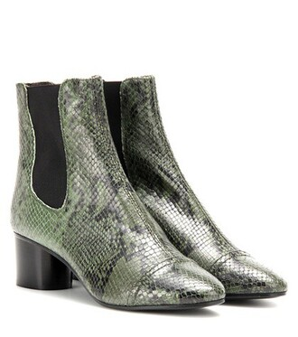 leather ankle boots boots ankle boots leather green shoes