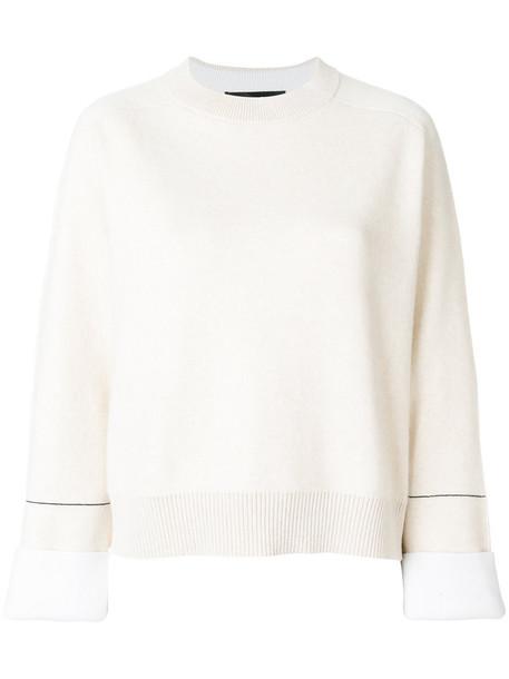 Proenza Schouler sweater women spandex nude cotton silk