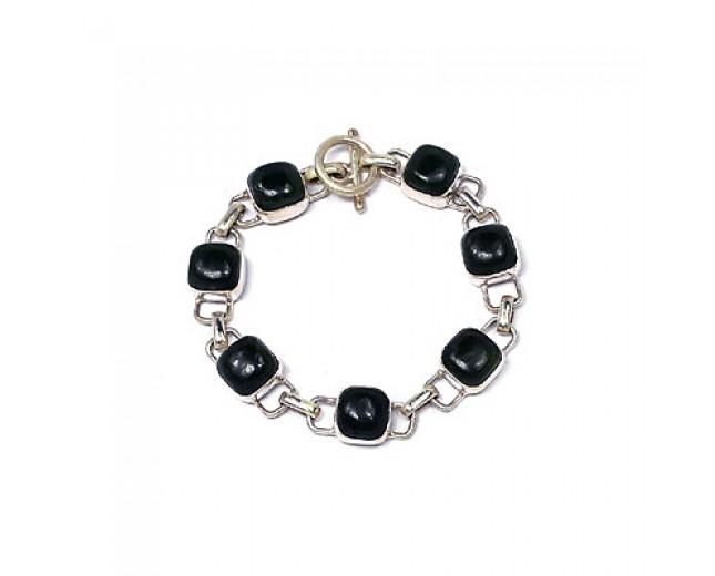Genuine 925 sterling silver Nafed Jade Bracelet