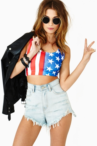 Live free crop tank in  clothes tops cropped at nasty gal