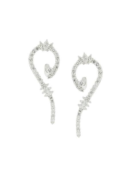Yeprem women earrings gold grey metallic jewels