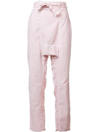 women cotton purple pink pants