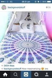 bedding,tapestry,girly,home accessory,mandala