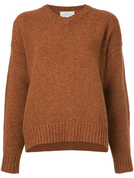 Studio Nicholson top knitted top women yellow orange