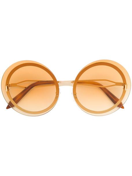 Victoria Beckham women sunglasses round sunglasses yellow orange