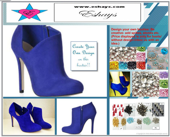 shoes boots blue boots booties blue booties cute boots www.eshays.com royal blue.' royal shoes royal blue royal blue bow shoes