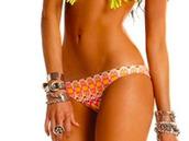swimwear,orange,pattern,cheeky,bottoms,bikini,circles,funny,pattered,yellow,red
