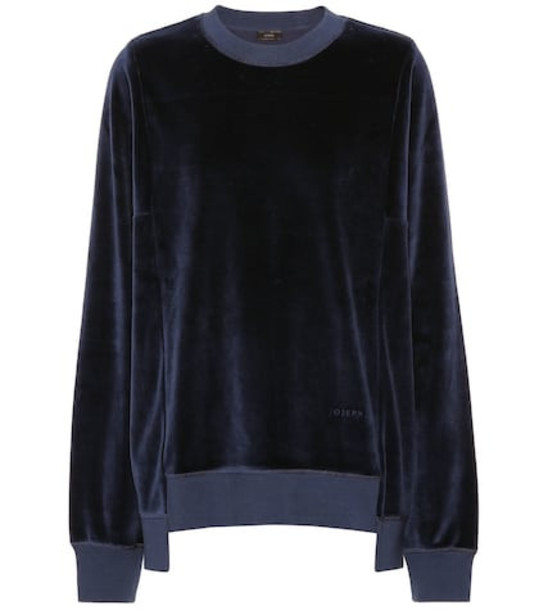 Joseph Velour sweatshirt in blue