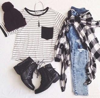 shirt stripes t-shirt striped shirt black and white blouse