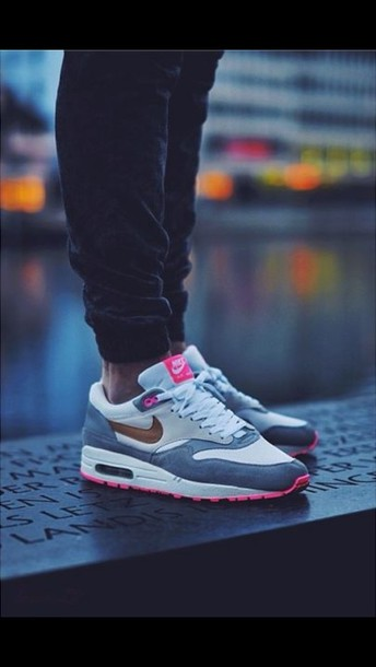 shoes nike nike air max 1 pink