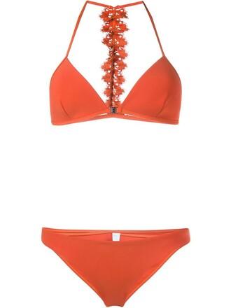 bikini triangle bikini triangle brown swimwear