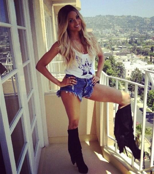 shorts ciara short jeans sexy shorts celebrity style