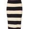 Black bar stripe pencil skirt