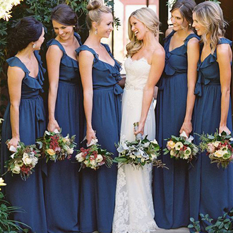 dress teal blue maxi dress maxi navy long storenvy bride long dress beautiful bridesmaid long bridesmaid dress v neck chiffon chic cute gorgeous