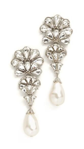 formal earrings silver jewels