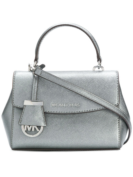 MICHAEL Michael Kors cross women bag leather grey metallic