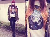 sweater,hipster,wolf,galaxy print,cross,swag,white,triangle,sweatshirt,tank top,coat,winter coat,brown,cute,t-shirt