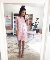 hello fashion,blogger,jewels,sunglasses,pink dress,long sleeve dress,cut-out dress,nude sandals,date outfit,spring dress