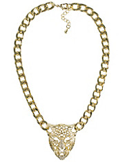Leopard Chain Necklace, NLY Accessories