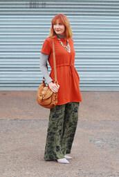 not dressed as lamb - over 40 fashion blog,blogger,t-shirt,dress,pants,shoes,bag,jewels,nail polish,wide-leg pants,shoulder bag