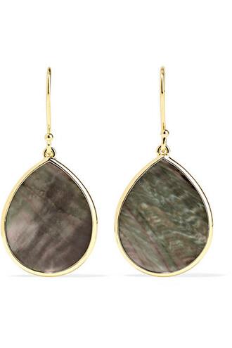 rock shell candy earrings gold jewels