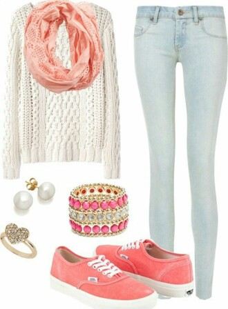 blouse jeans jewels pants shirt scarf top sweater shoes