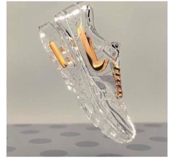 Nike Gold Glitter Running Shoes