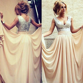 dress prom elegant fashion style formal gown vanessawu sparkly dress prom dress long prom dress beige dress blue prom dress prom beauty