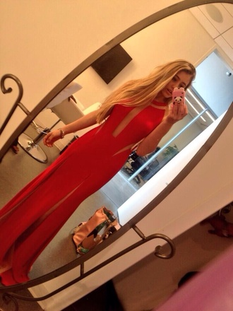 long lia marie johnson red dress dress long dress formal beautiful