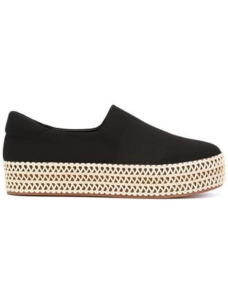 women espadrilles leather cotton black shoes