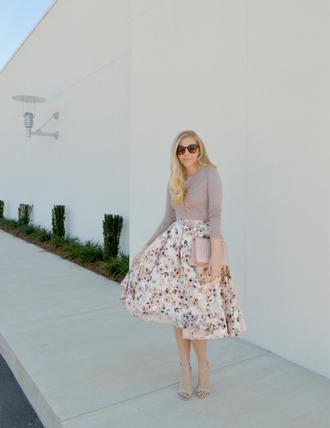 fash boulevard blogger midi skirt floral skirt chain bag jacquard skirt floral midi skirt