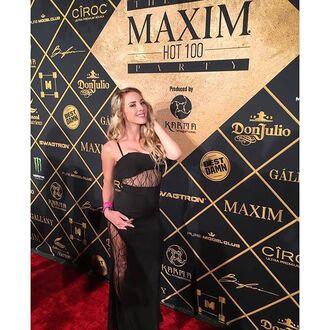 dress lace black lace tube dress black dress gown maxi angl