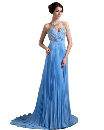 Amazon.com: Winey Bridal Sexy Light Blue Pleated Chiffon Bing Prom Evening Dresses Cheap (Only Custom Made, Custom Made Color): Clothing