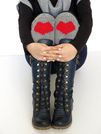 valentine socks red heart boots valentines day sock grey boot cuffs boot socks boot cuff for her gift ideas christmas christmas gift